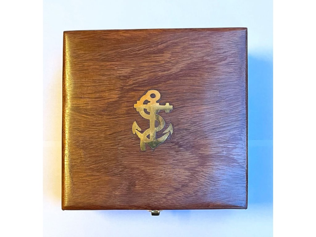 Sluneční hodiny - kompas v dřevěném boxu 11cm