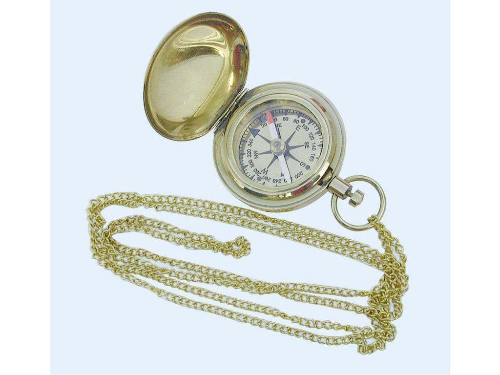 Kompas do kapsy s řetízkem 5 cm 8240