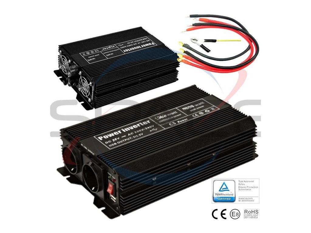Měnič 24V/230V 2000W (4000W)