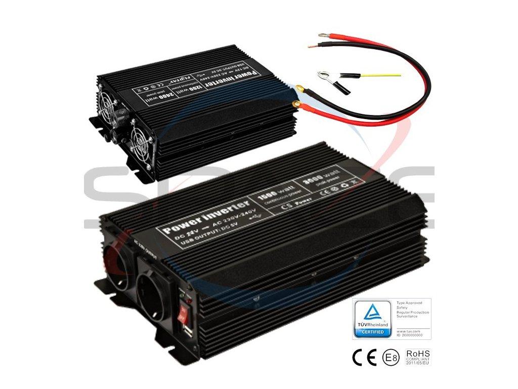 Měnič 24V/230V 1500W (3000W)
