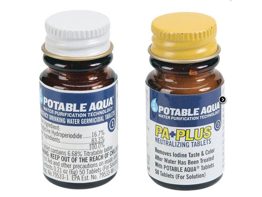 Tablety US POTABLE AQUA® na čištění vody