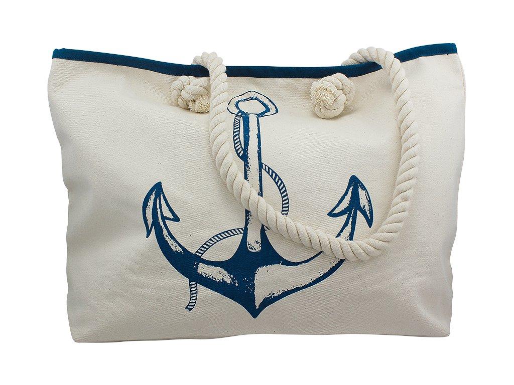 Taška nákupní námořnická s kotvou