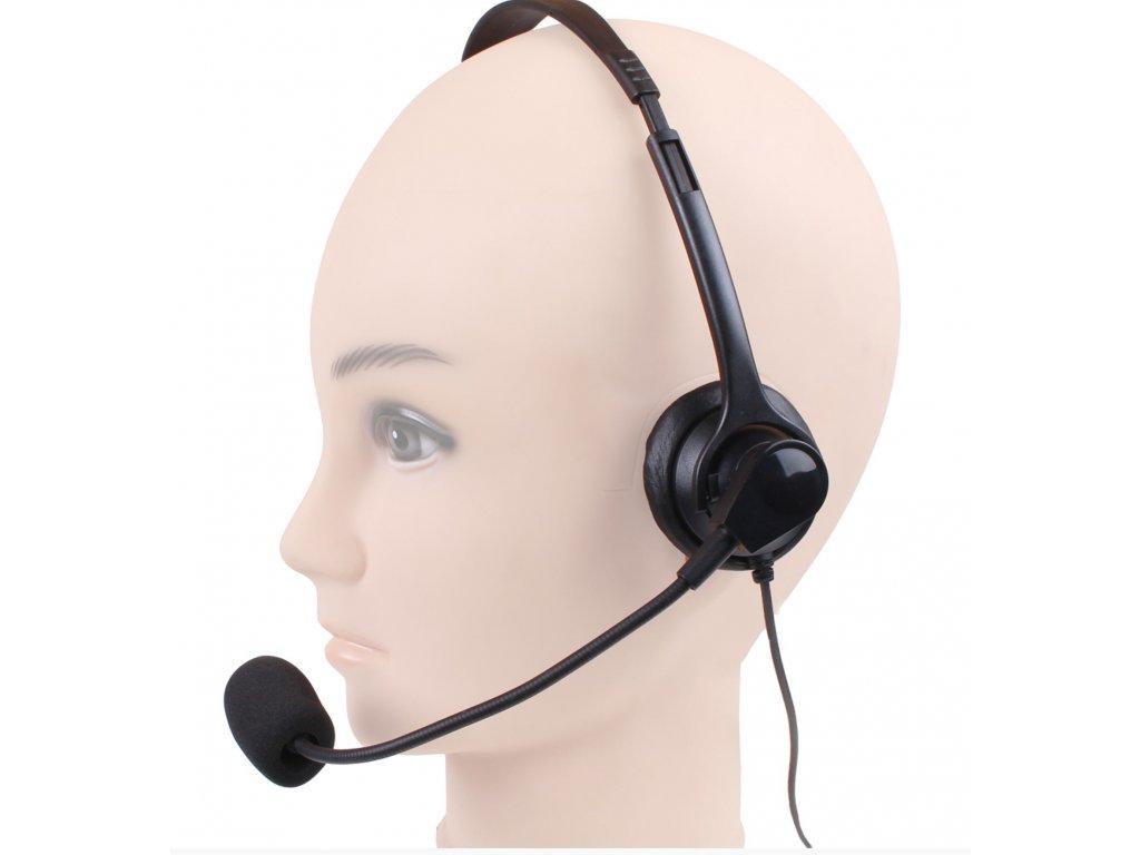Náhlavní souprava mikrofon pro Baofeng KEP 660 VK (Kenwood, Baofeng, Wouxun)