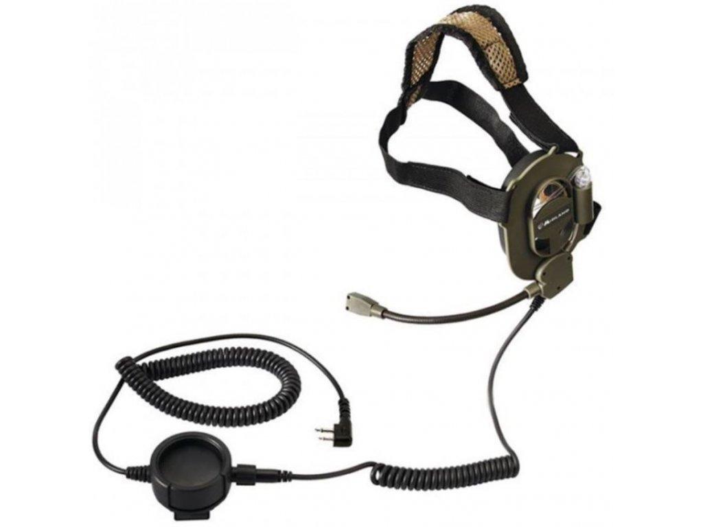 Náhlavní souprava Wouxun (Baofeng) - taktický mikrofon
