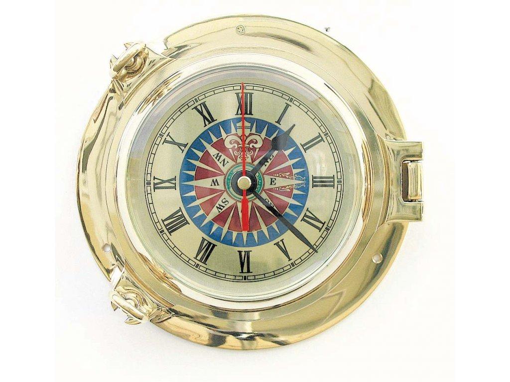 Lodní nástěnné hodiny mosazné 18 cm