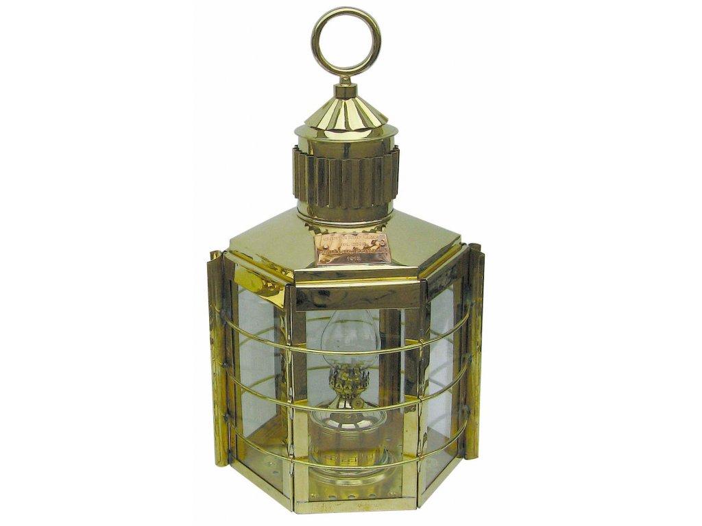 Petrolejová lampa námořnická mosazná - clipper 33 cm