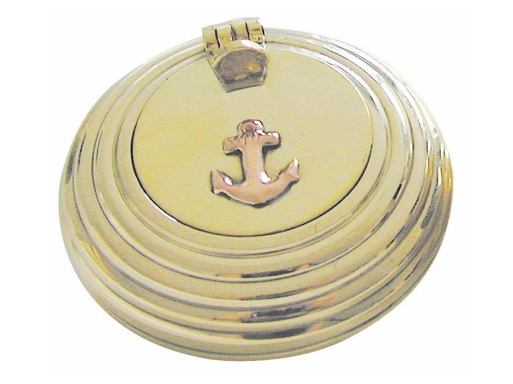 Popelník kapesní s poklopem vroubkovaný 6 cm