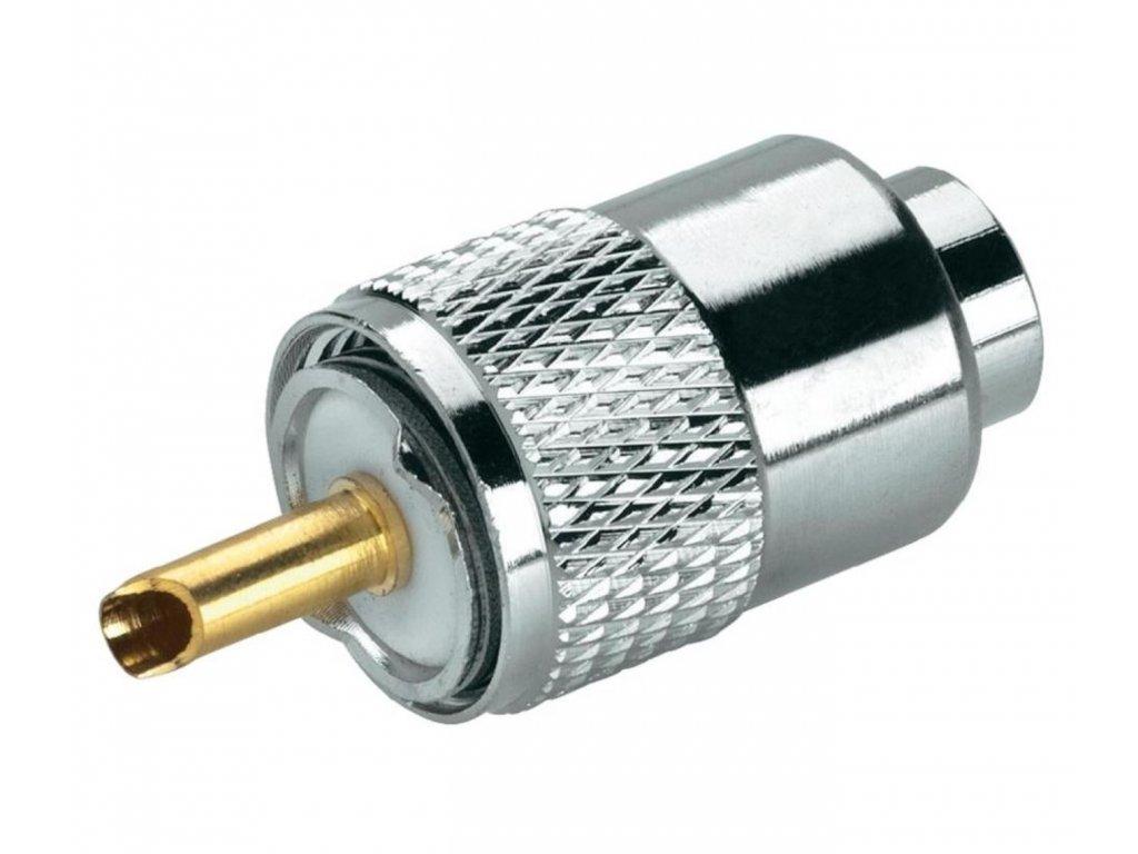 Konektor PL-6 dlouhý zlatý pin