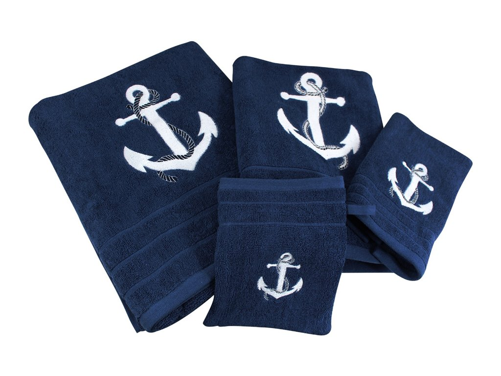 Ručník námořnický SEA-CLUB 50 x 100 cm tmavě modrý