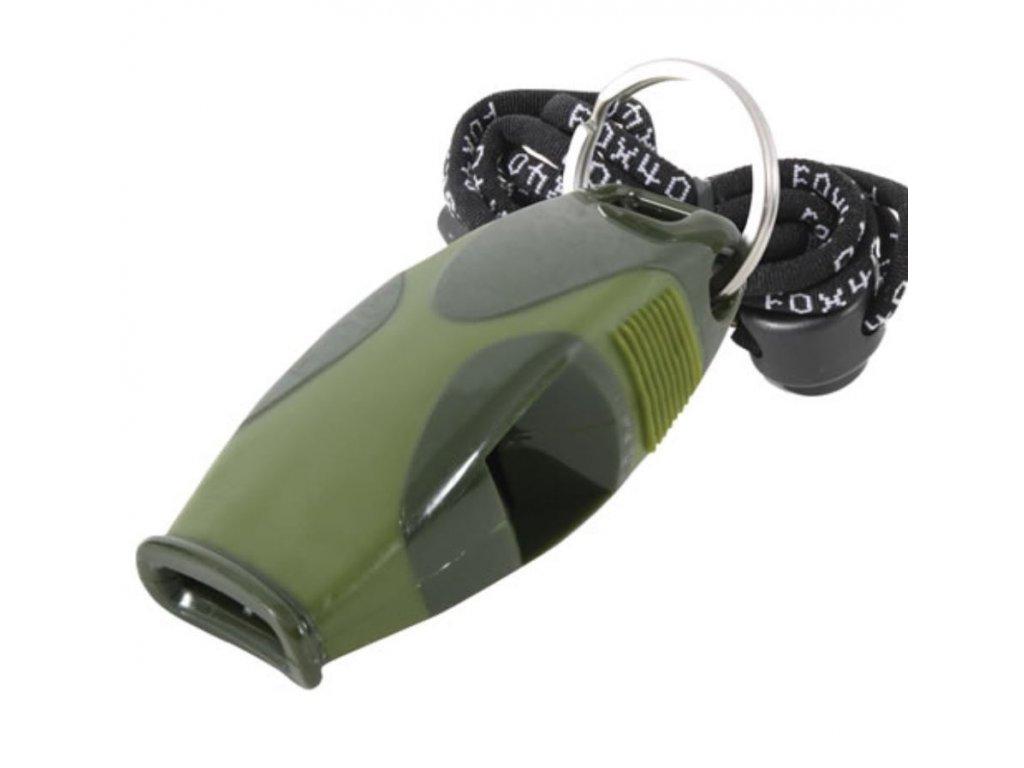 Píšťalka SHARX FOX 40 vojenská nárazuodolná 120 dB olivová