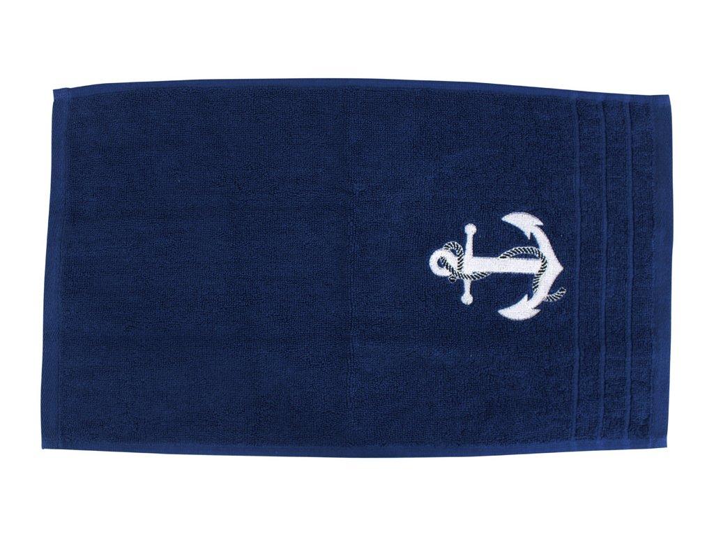 Ručník námořnický SEA-CLUB pro hosty 30 x 50 cm tmavě modrý