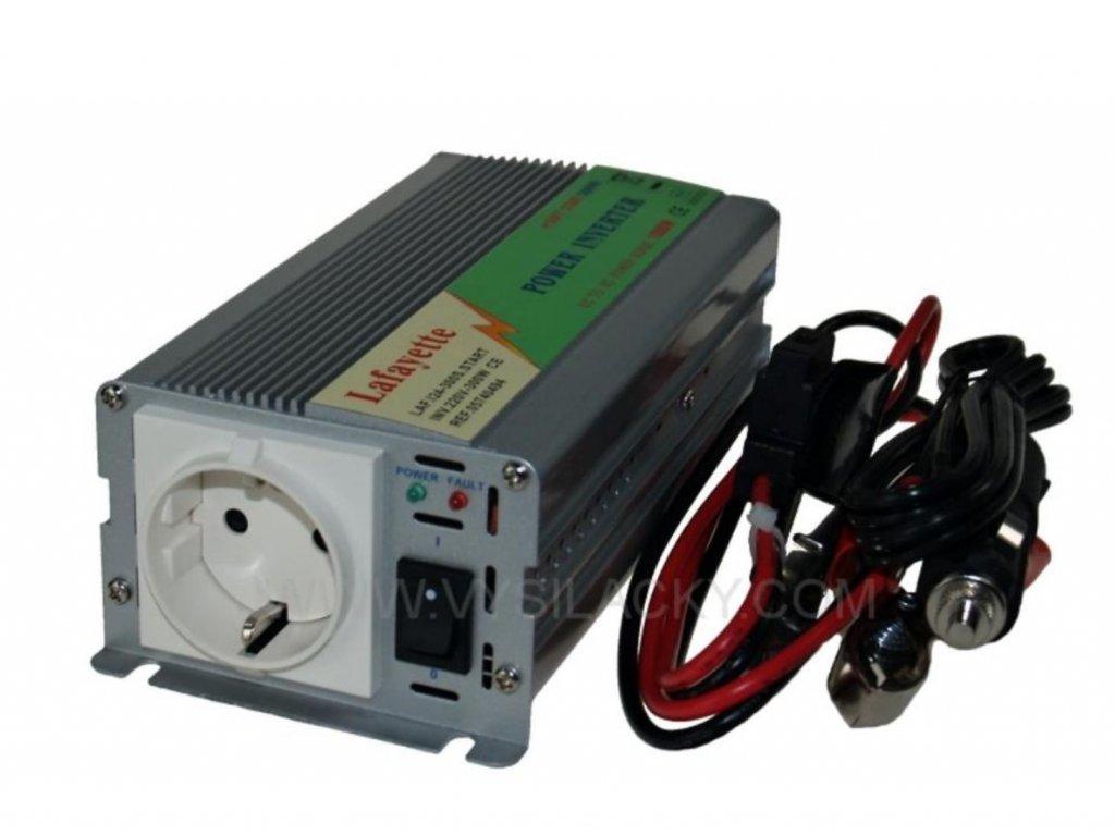 Měnič 24V/230V 300W (600W)