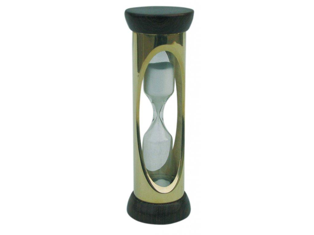 Přesýpací mosazné hodiny tříminutové 9,5 cm