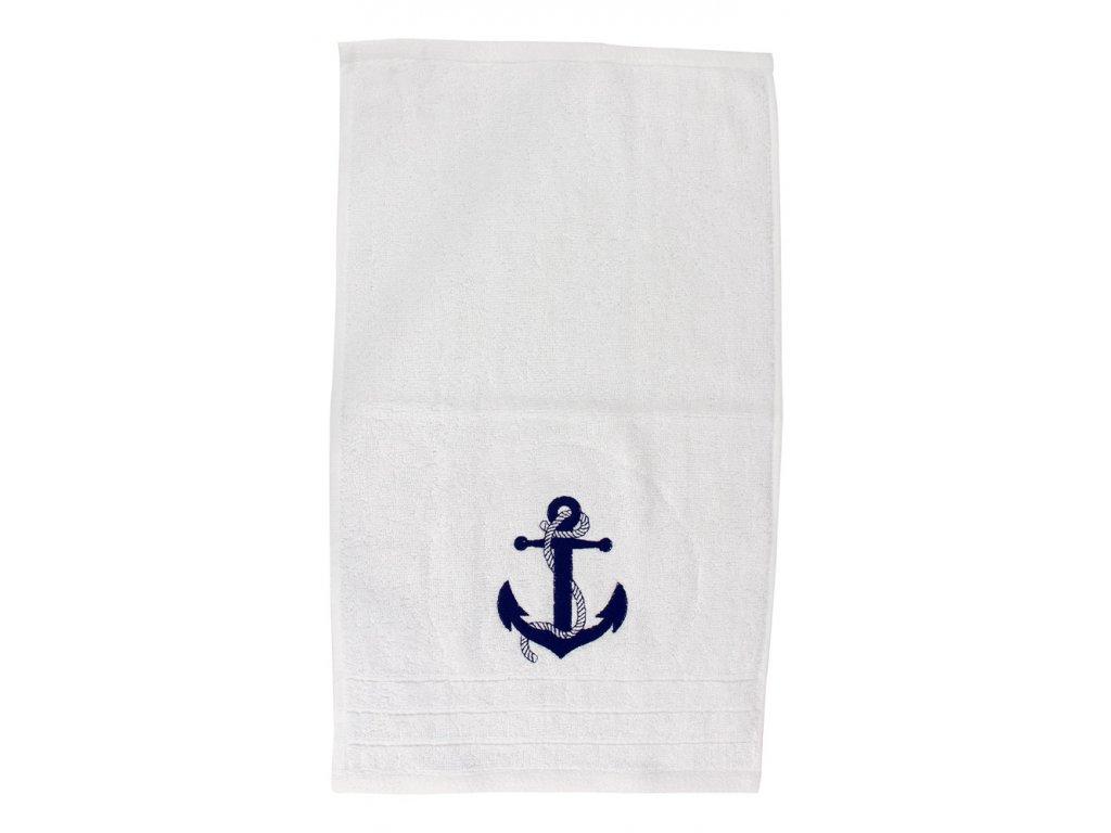 Ručník námořnický SEA-CLUB pro hosty 30 x 50 cm bílý