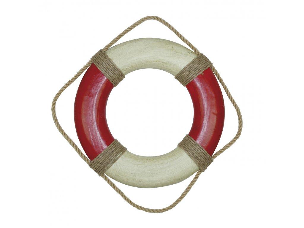 Záchranný kruh dekorační vintage Ø 36cm 5578