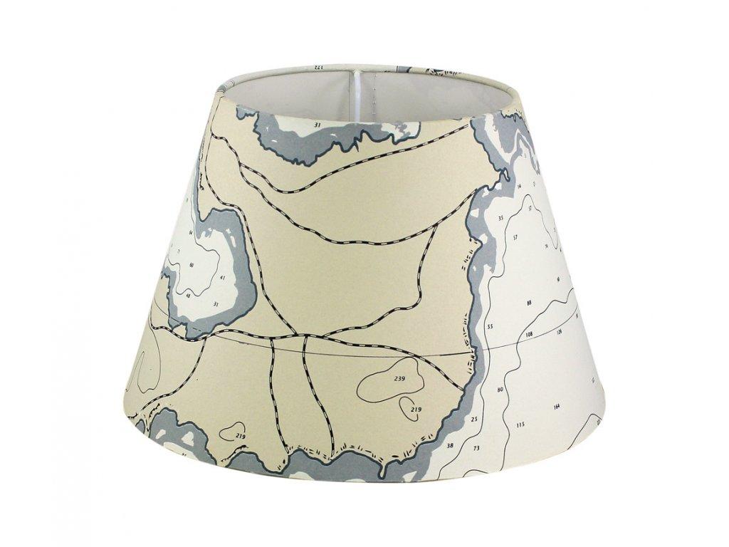 Stínítko ke stolní lampě mapa