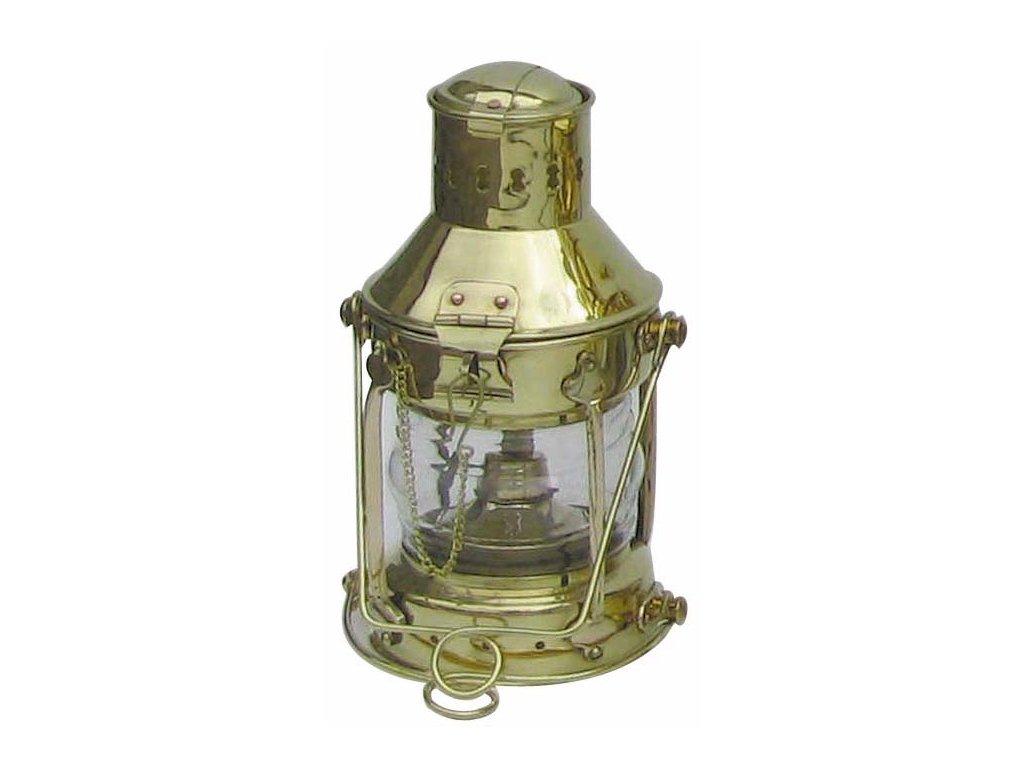 Petrolejová lampa námořnická kotevní - mosazná