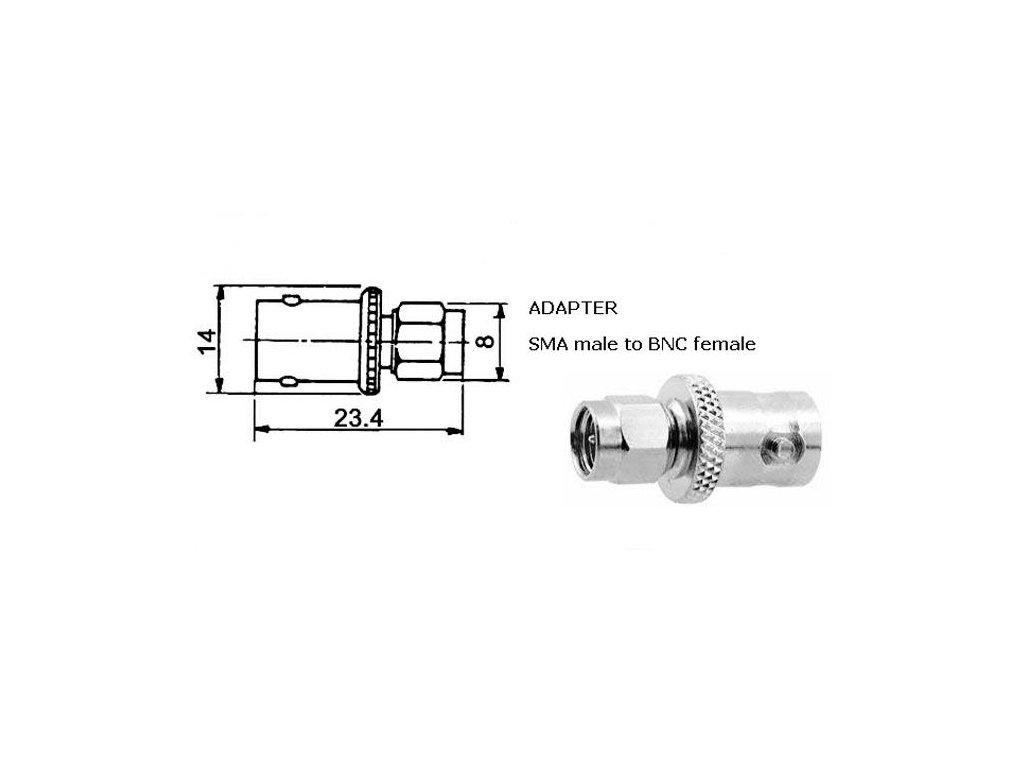 BNC-SMA adapter f/m