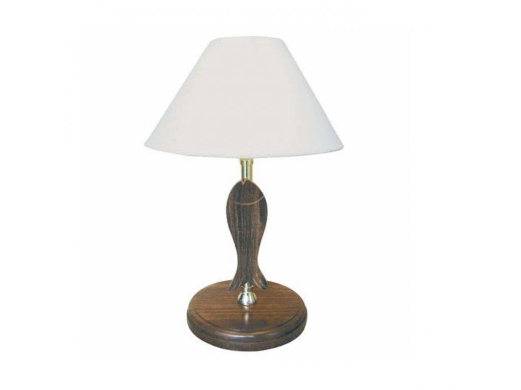 Lampa stolní námořnická se stínítkem - ryba 37 cm