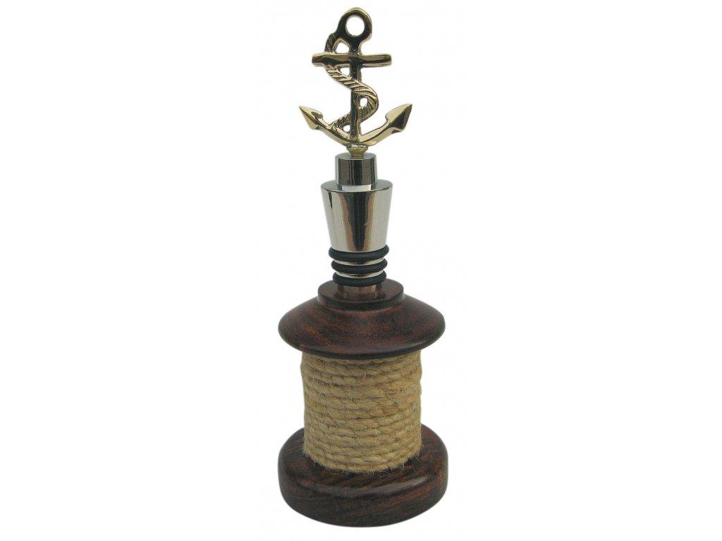 Zátka na láhev vína námořnická s kotvou 9164