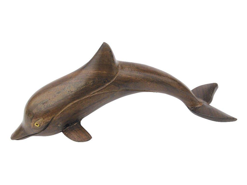 Dřevěná figurka - soška delfína 20 cm