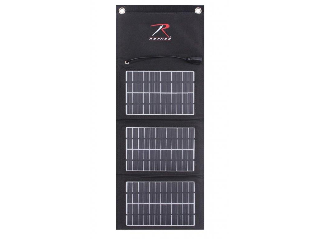 Nabíječka solární USB skládací MOLLE ČERNÁ 7,5W