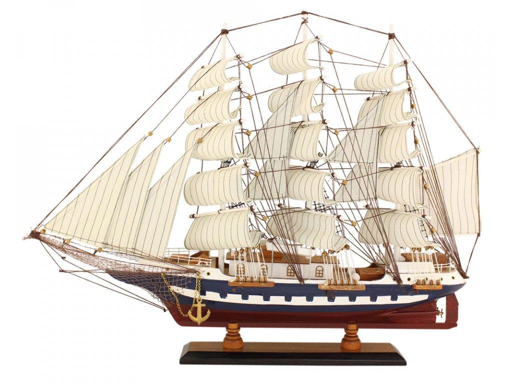 Model lodě - plachetnice - plnoplachetník 63 cm
