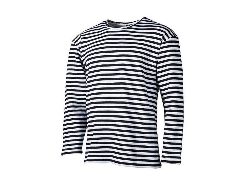 Námořnické triko pruhované dlouhý rukáv - nebělená bavlna
