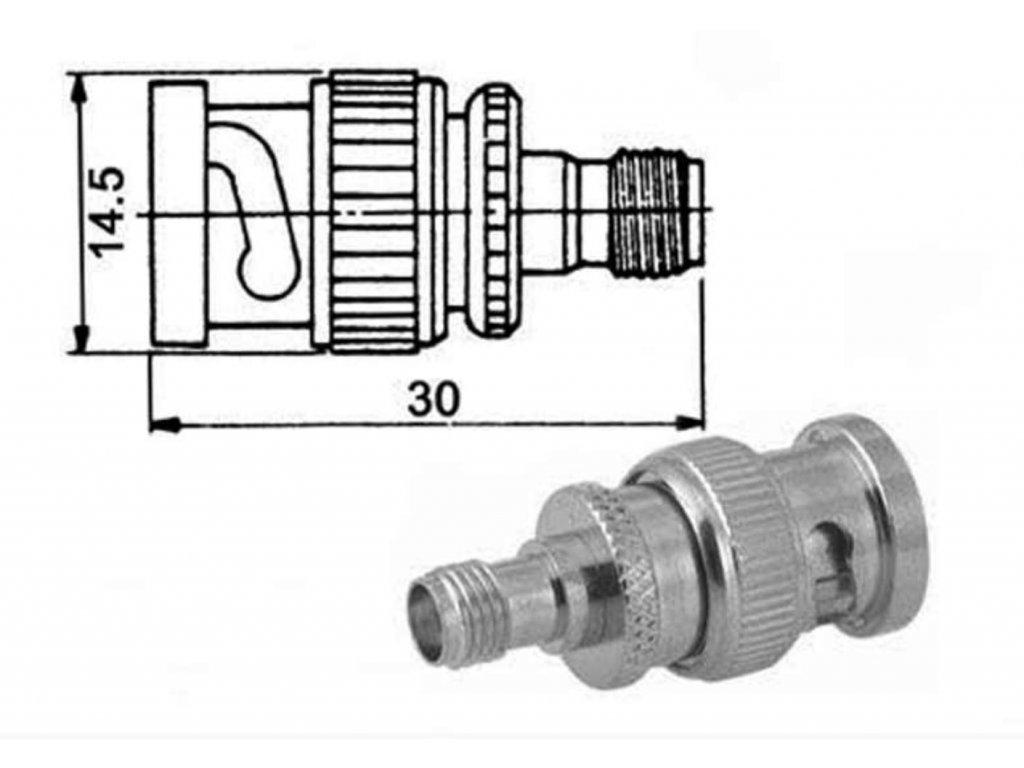 SMA-BNC adapter f/f