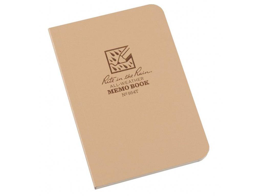 Blok voděodolný RITE IN THE RAIN Memo Book DESERT 954T  + tužka s gumou