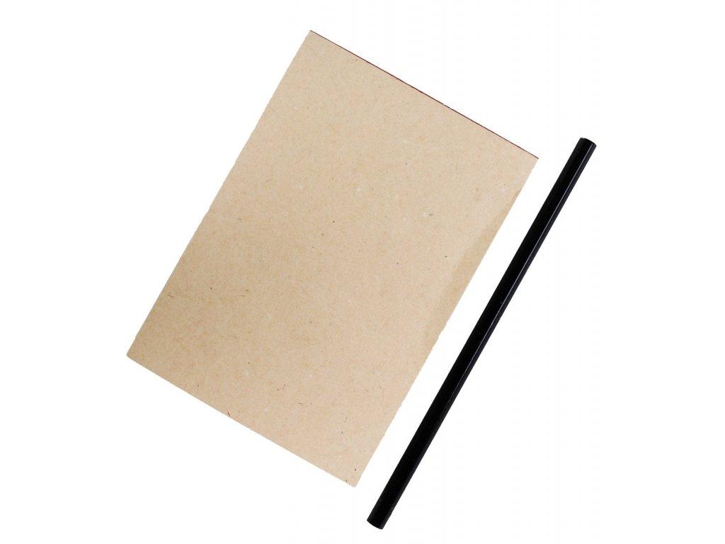 Blok zápisník s tužkou RETRO