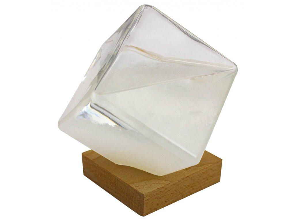 Bouřková sklenička - Stormglas ve tvaru krychle 14 cm 5973