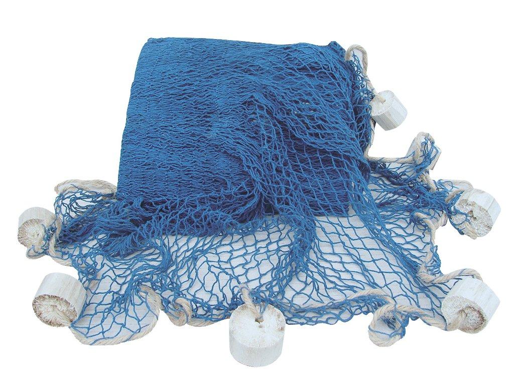 Rybářská síť s plováky modrá 250 x 250 cm