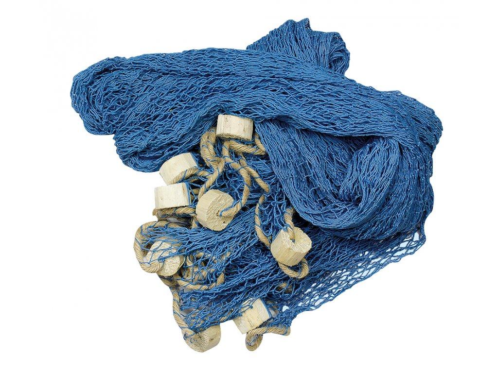 Rybářská síť s plováky modrá 340 x 340 cm 5937