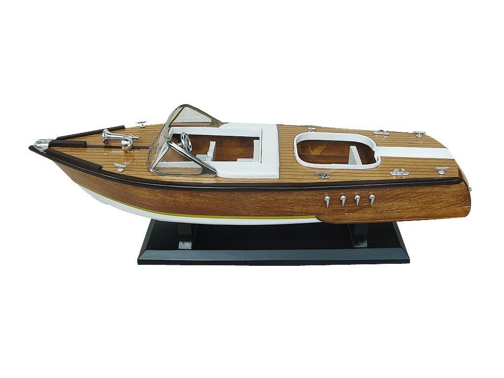 Model lodě - italský sportovní člun 50 cm