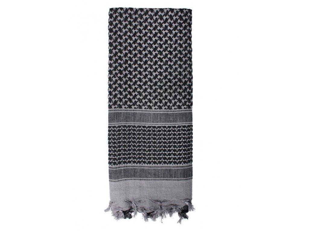 Šátek SHEMAGH odlehčený ŠEDÝ 105 x 105 cm