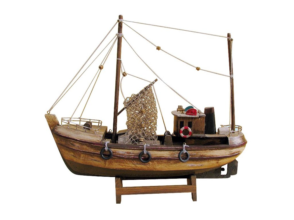 Model staré rybářské lodě 30 cm
