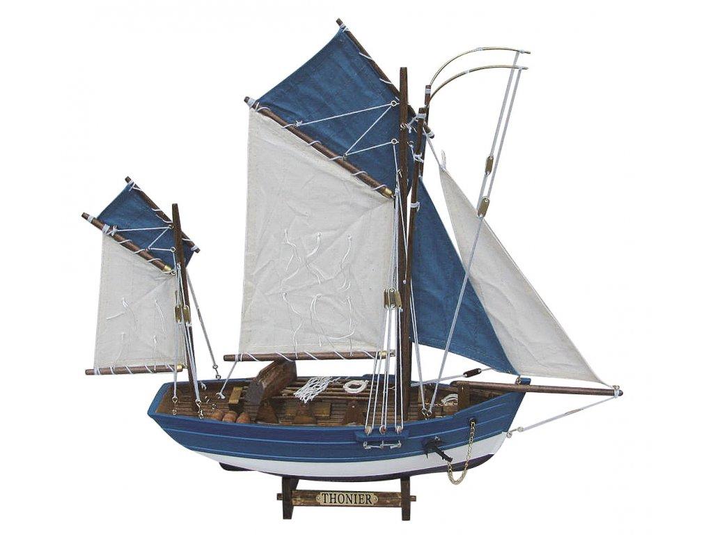 Model plachetnice na lov tuňáků 45 cm