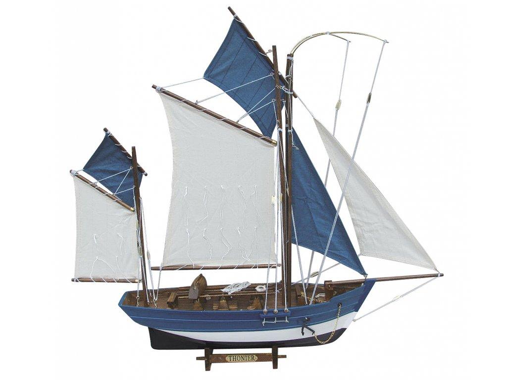 Model plachetnice na lov tuňáků 64 cm