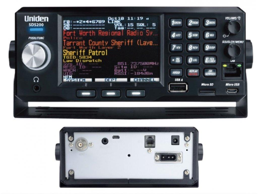 UNIDEN SDS200 + aktivováno DMR + NXDN + ProVoice