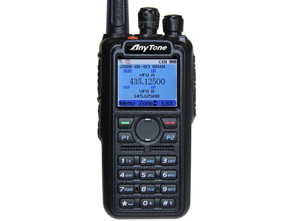 ANYTONE AT-D868UV GPS dualband UHF/VHF  + 3100mAh baterie