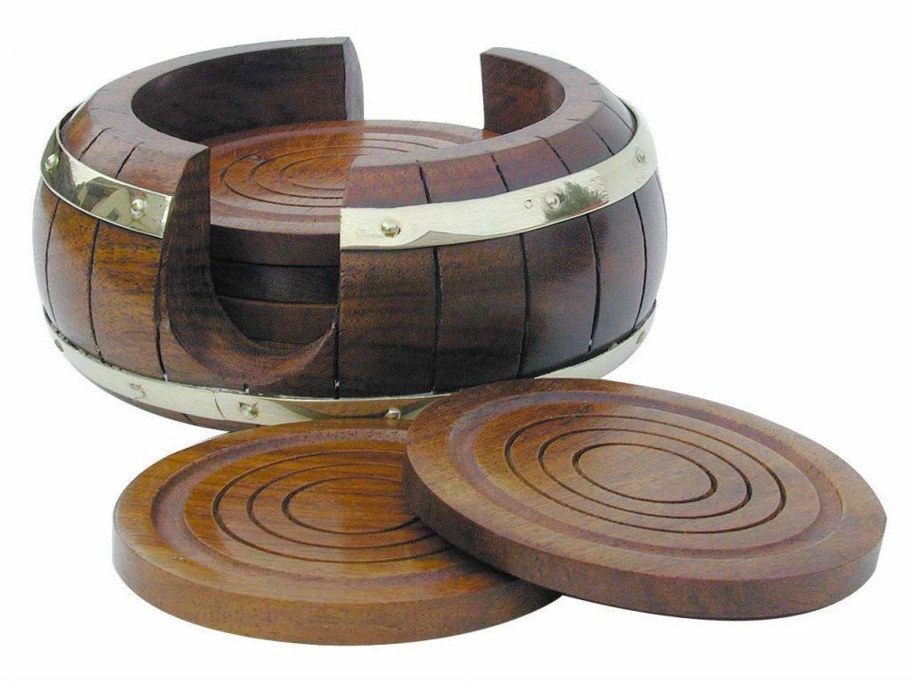 Dřevěné podtácky námořnické v sudu