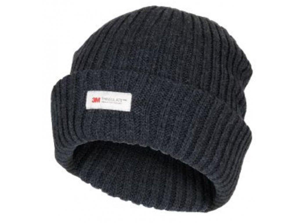 Čepice pletená Acryl Thinsulate™ ALASKA ČERNÁ