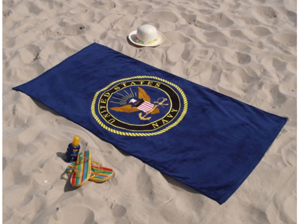 Osuška plážová US Navy tmavě MODRÁ 150 x 75 cm