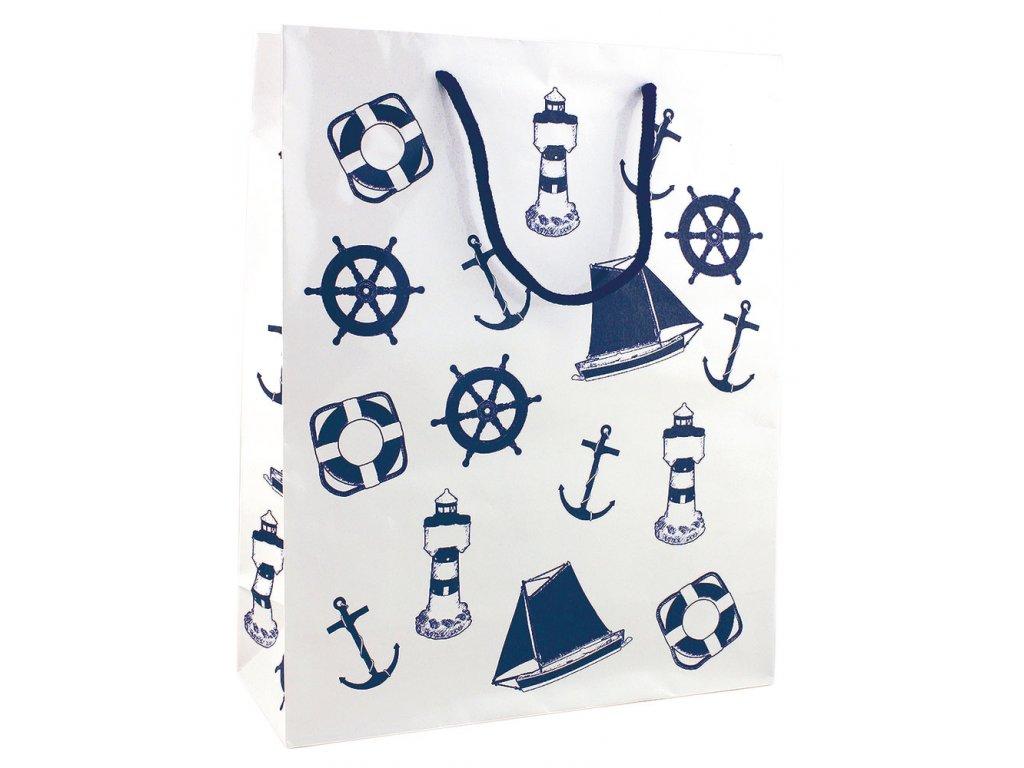 Dárková taška námořnická velká BÍLÁ