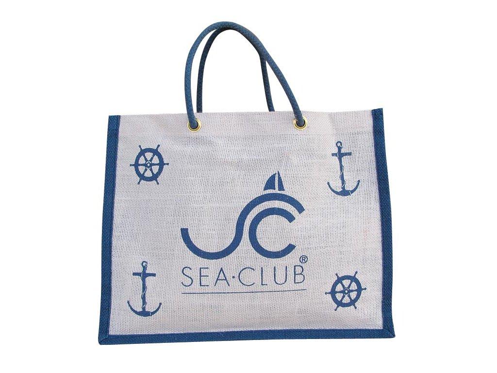 Taška jutová námořnická plážová i nákupní SEA CLUB