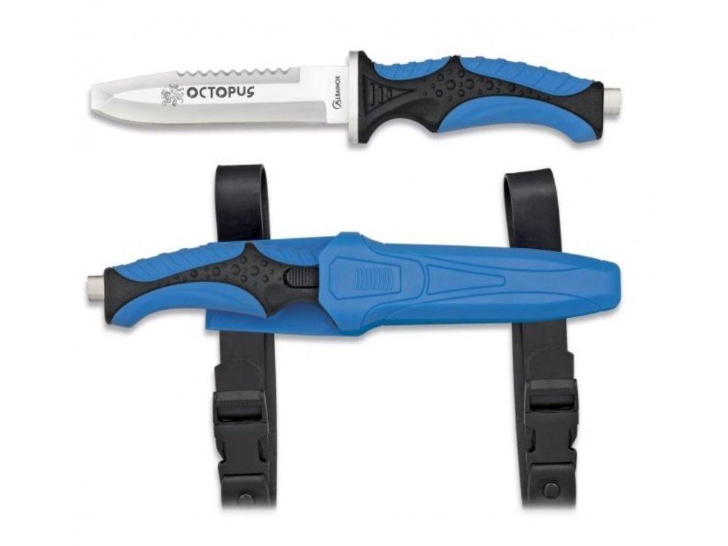 Nůž OCTOPUS potápěčský MODRÝ