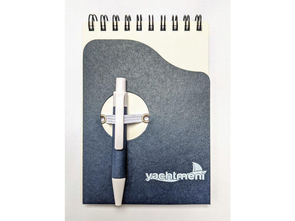 Zápisník blok 9 x 13 cm se spirálou a propiska Yachtmeni