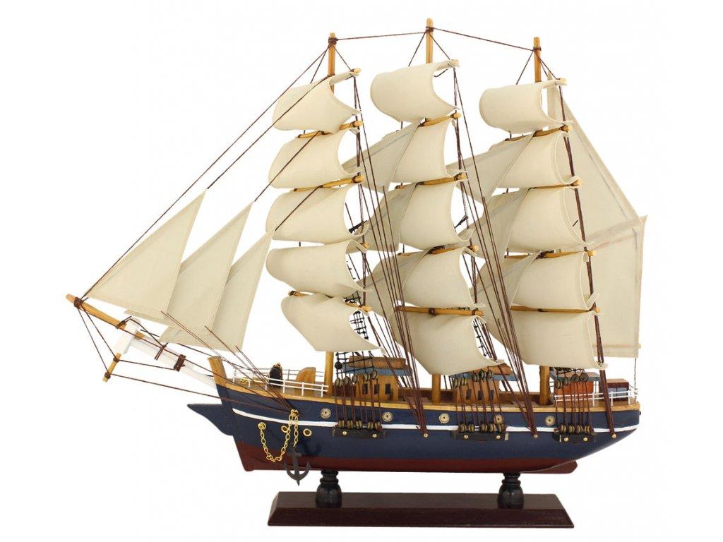 Model lodě - plachetnice - plnoplachetník 47 cm