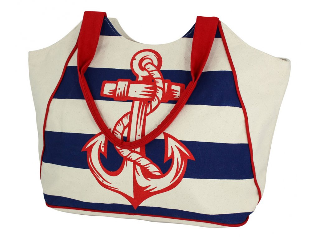 Taška nákupní námořnická s kotvou 9838